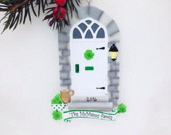 Irish Door Personalized Christmas Ornament / Irish Door Ornament / Housewarming Gift / New Home / Bless This Irish House