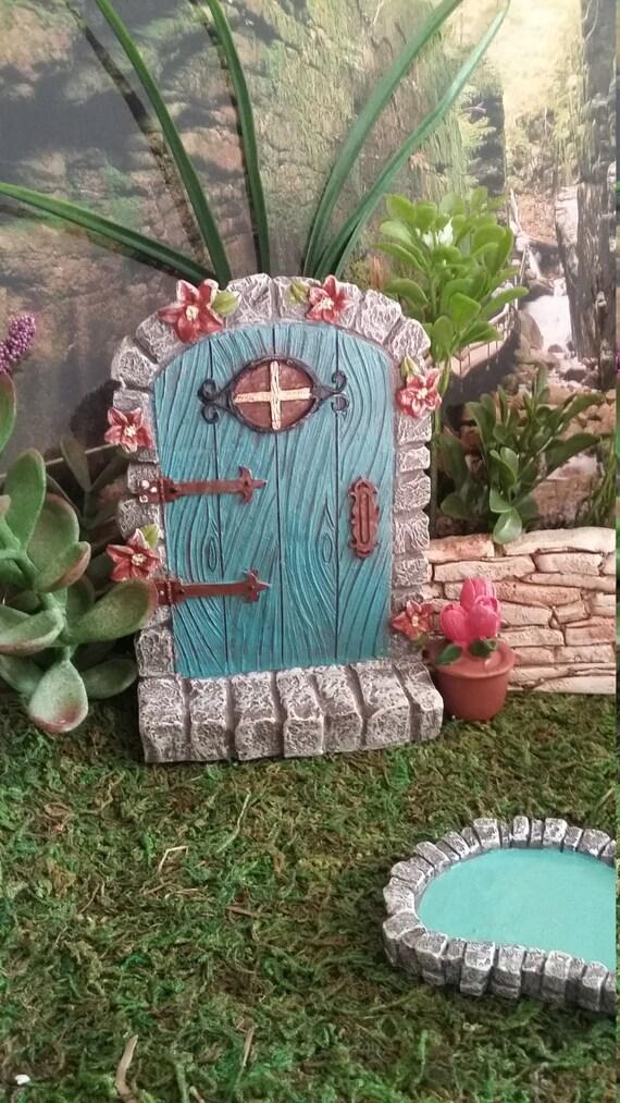 Fairy Garden Miniature Fairy Door, Resin Fairy Garden Door For Your Fairy  Garden, Woodland Fairy House, Castle Door, Turquoise Fairy Door From ...