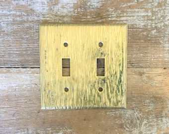 Light Switch Cover Lightswitch Plate Mid Century Brass Light Switch Cover Cottage Chic Light Switch Plate Ornate Brass Light Switch Cover