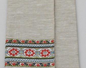 Linen Laptop sleeve- Ornaments Nationales Num 2- 13 inches Macbook