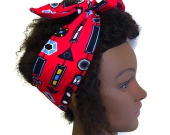 Kids Satin lined headband. Ankara headband. Ankara bandana.