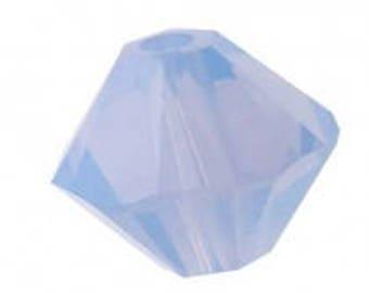 Swarovski crystal bicone, Air Blue Opal, 6mm - #2411