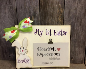 Easter Bunny Photo Block, Easter Picture Frame