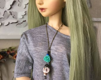 BJD Skullz 'n' Roses Necklace (SD 1/3 SD13 SD16 Feeple60)