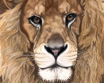 Lion Art, Instant Digital Download, Aslan the Lion