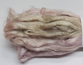 4 oz Hand painted Bamboo combed top spinning fiber -  Smooth and Creamy
