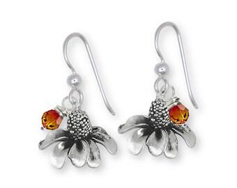 Mexican Hat Earrings Jewelry Sterling Silver Handmade Flower Earrings MHT1-BDE