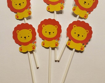 Lion Cupcake Toppers for Baby Shower or Birthday Party