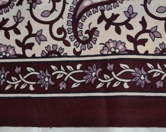 Indian Summer Pure Cotton Fabric in paisley design - One yard