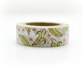 Bananas Washi Tape - Craft Supplies - Planner Stickers - Erin Condren - Scrapbooking - Bujo Journal - Deco Tape - Love My Tapes