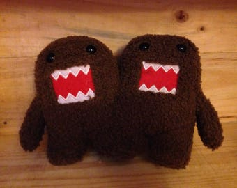 Two Headed Domo Plush, one of a kind Domo plush perfect for Domo fans