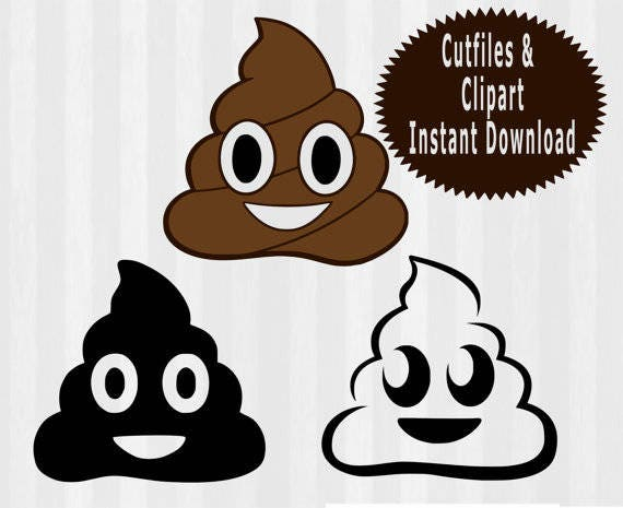 Poop Emoji SVG File Cutting Template Clip Art For Commercial And - Poop emoji template