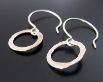 sterling silver hoop earrings...minimalist