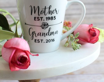 Grandma Pregnancy Announcement, Personalized Grandma Coffee Cup, Mother's Day Mug, Mother's Day Gift, Promoted to Grandma Coffee Mug