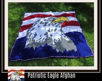 Eagle C2C Graph, Patriotic Eagle C2C Graph, Patriotic Eagle afghan pattern, Patriotic Eagle Crochet Pattern
