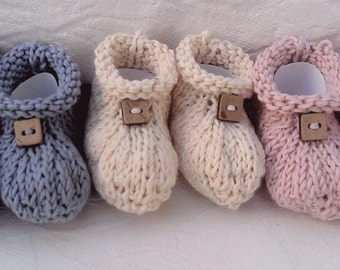 Organic Cotton Booties for Baby,baby booties, baby boots, 3-6 months, ocean blue