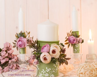 Unity Candle Set, Flower Unity Candles, Lace Unity Candle Set, Wedding Unity Candles, Wedding Candle Unity, Unity Candles, Wedding Ceremony