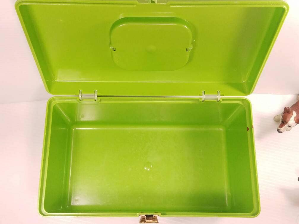 Vintage Sewing Craft Supply Box, Wilson Mfg Corp Plastic, 12x6.5 X 6, Lime  Green Storage Container, Retro Craft Storage Box