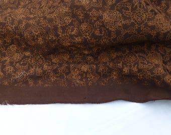 Chocolate brown textured fabric 150cm x 250cm