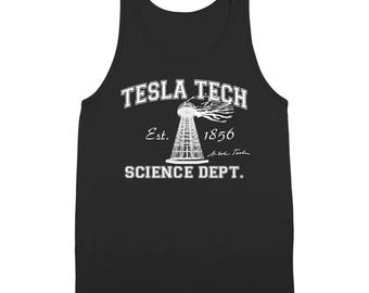 Tesla Tech Nikola Tesla Geek Science Retro Auto Tank Top DT0125