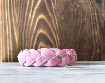 Braided leather bracelet - Pretty in Pink