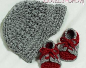 Boy Sports Crochet Pattern Includes Little Sport NEWSBOY HAT and Little Sport SADDLES digital