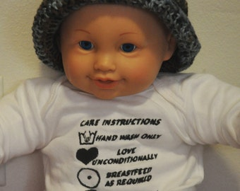 Baby Care Instructions Embroidery Pattern for Machine Embroidery Digital Download