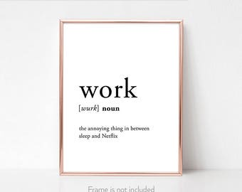 Definition prints / Coworker funny gift / Cubicle prints quote / Workspace / Cubicle decor funny / Office /