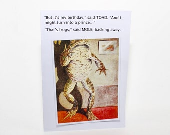 Wind in the Willows Birthday Card