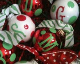 Personalized Christmas Ornaments - Christmas Balls - Christmas Decor - Christmas Tree