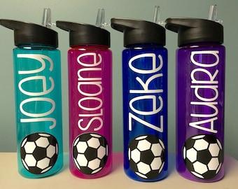Soccer Gifts - Soccer Water Bottle - Water Bottle with Name - Soccer Team Gift - 24 ounce Water bottle with name - Soccer Banquet Gift