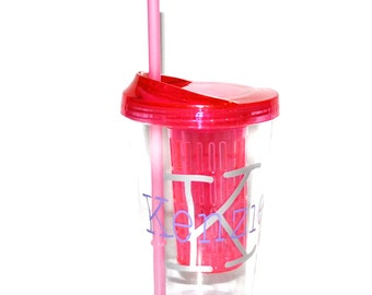 Water Bottle Infuser, Pink Fruit Infuser, Personalized Fruit Infuser, Water Bottle, Tumbler, Personalized Tumbler, Mother's Day Gift