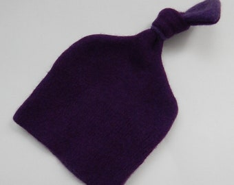 Recycled Two Tone Purple Cashmere Baby Hat - 0-3 months