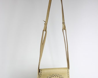 Tan Leather 60s/70s Cut-out Detail Shoulder Bag
