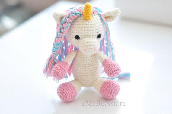 Amigurumi Unicorn : Amigurumi unicorn plush unicorn crochetunicorn