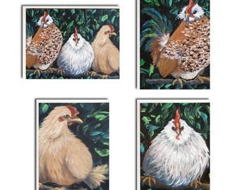 Assorted Chicken Notecards - Chicken Cards - Chicken Stationery