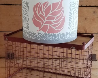 Grey and Salmon Drum Lampshade