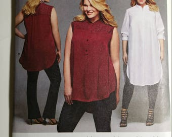 Simplicity Sewing Pattern 8140 Women's Shirt with Length Variations Plus Sizes