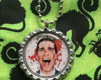 Patrick Bateman American Psycho Horror Jewelry Necklace Pendant Christian Bale