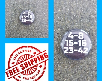 Jj cosplay etsy 1 lost numbers button pin or magnet free shipping and coupon codes fandeluxe Images