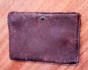 Very old men brown leather wallet