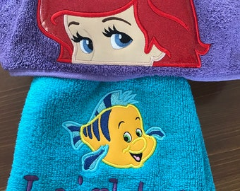 Mermaid Hooded Towel - Hooded Towel - Towel - Mermaid Towel