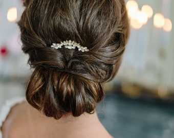SUNBURST PETITE art deco glamorous bridal comb, vintage style glam modern wedding hairpiece