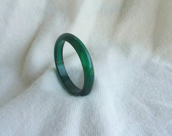 Green crystal bakelite bangle bracelet FREE SHIPPING