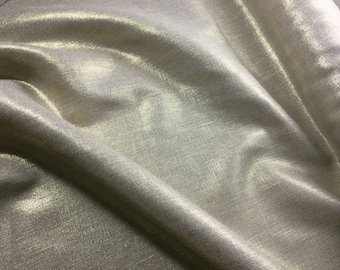 100% Golden lame linen / gold - price at 25 cm