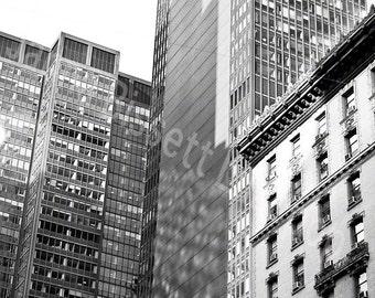 New York City  Fine Art Urban Photograph on Metallic Paper