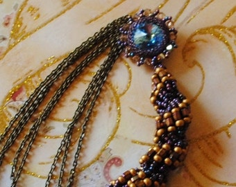 Aqua twist necklace (#3)
