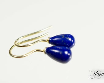 Lapis lazuli on gold-plated sterling
