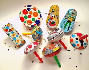 Happy New Year! Metal noise maker collection party favors ~ Tin toy party noise maker lot- Make some noise in 2018 ! /item 0695