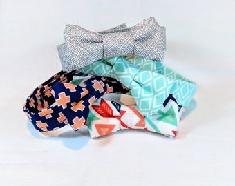 Boys' Cute Adjustable Bowties - Boy, Toddler and Baby sizes in fun bright colors